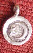 Elegant Tibetan Buddhist Hill Tribe Charm 925 Sterling Silver MOON and STARS
