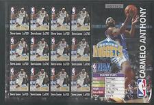 SIERRA LEONE # 2754 MNH CARMELO ANTHONY, NBA BASKETBALL PLAYER Miniature Sheet