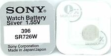 Sony 396 Sr726w Battery Silver Oxide Watch Coin Cell Batteries X 2