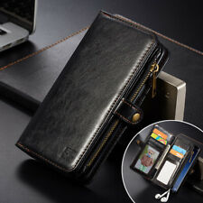 For Samsung Galaxy Note 8 S9 Magnetic Leather Wallet Flip Stand Case Phone Cover