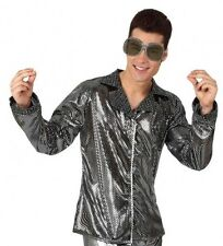 Shirt Costume Disco SILVER M / L Man Jacket Woman Years 1980