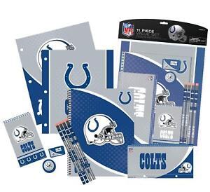 NFL 11-Piece School Supplies Folder Notebook Pencil Set: Colts, Titans or Saints