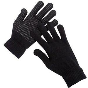 1 Pair Mens FULL FINGER Gripper Gloves Work Safety Warehouse Non Slip Thermal
