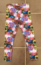 New Girls River Island Floral Print Bright Pattern Long Leggings Age 11-12 DE36