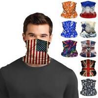 Unisex Face Mask Washable US Flag Styles Bandana Scarf Neck Gaiter Headband Cap