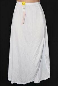 SLP W28 - Lovely silky soft ladies waist slip, UK 12/14, BN, white, Shadowline