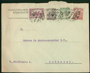 Mayfairstamps Hungary 1924 Reszvenyta to Budapest Combo cover wwo1597