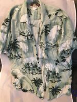 Kalaheo Men's Short Sleeve Button Down Plane Hawaiian Shirt Multi-Color XL