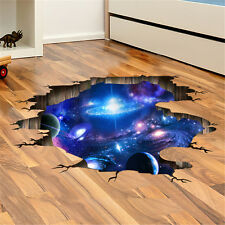 90*60cm Galaxy Planet Space Wall Sticker Kids Baby Bedroom 3D Wall Decal