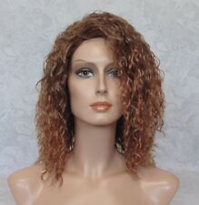 Short Kinky Brown Ombre High Heat Resistant Full Synthetic Wig Wigs - #31