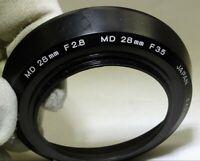 Minolta MD 28mm f2.8 f3.5 Rokkor lens Genuine 49mm rim or f2 Manual focus
