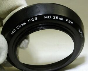Minolta MD 28mm f2.8 f3.5 Rokkor lens Genuine 49mm rim or f2 Manual focus