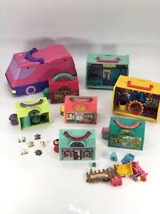 Vintage Pound Puppies Mini House Playset Lot RARE Variants (Van, Kennels, Etc)