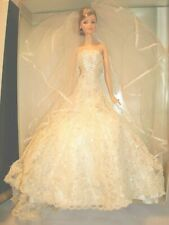CAROLINA HERRERA BARBIE BRIDE DOLL GOLD LABEL 2005 NRFB NIB B9797 NO SHOES COA