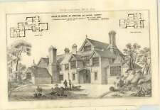 1874 House In Course Of Erection At Shere, Surrey, For A Clay
