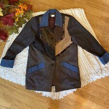 Mary Flanagan VINTAGE Coat Jacket Patchwork