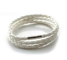 Stainless Steel  Braided Genuine Leather Cord Necklace/Bracelet Best BH