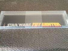 Vintage Star Wars Kenner 1979 Shelf Talker Display Toy Center AFA 70 Very Rare!!