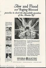 1930 General Electric Refrigerator advertisement, early MONITOR-TOP fridge, GE