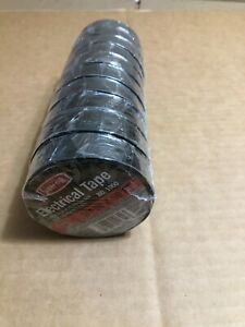 "10 pack Carrand 1060 3/4"" X 60' Electrical  Black Tape 6003"