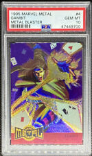 GAMBIT 1995 MARVEL METAL BLASTER #4 GEM MINT PSA 10 POP 4
