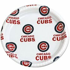 "Chicago Cubs Plastic Reusable Plates Package of 12 - 9 1/2"" plates"