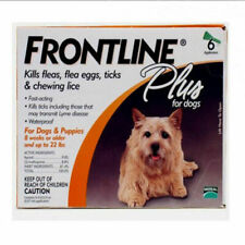 Frontline Plus Small Dog Up to 10kg Flea Remedies - 6 Pieces
