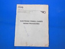 Bally Williams Pinball Repair Manual Original