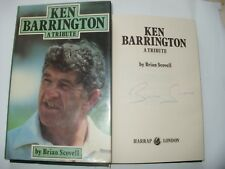 SIGNED BOOK-BRIAN SCOVELL-A TRIBUTE TO KEN BARRINGTON