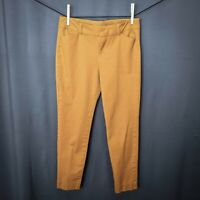 Old Navy Womens Pants Size 6 Dark Mustard Yellow Pixie Stretch Mid Rise