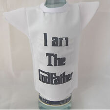Bottle / miniature T-Shirt for godfather ideal fun christening gift