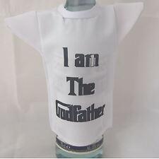 Bottle / miniature T-Shirt for godfather ideal fun christening gift
