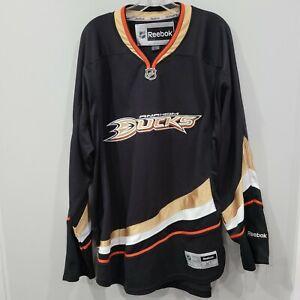 2013 Reebok NHL Anaheim Mighty Ducks Black Hockey Jersey Mens XL Sewn