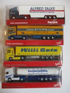 4x Herpa LKW Set 7, Sturm, Betz, Talke, Sonderabfälle, Spur N 1:160 Neuwertig