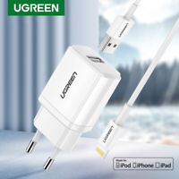 Ugreen 5V 2.1A USB Charger MFi USB Lightning Cable Wall Phone Charger for iPhone