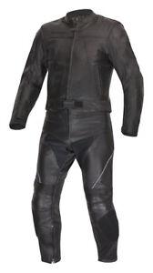 Lederkombi als Zweiteiler von XLS Motorradkombi schwarz zweiteilig Gr. 46 bis 70
