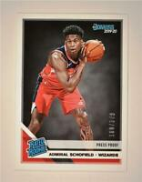 2019-20 Donruss Rated Rookie Press Proof Silver #239 Admiral Schofield RC /349