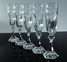 ST LOUIS CHAMBORD / 6 FLUTES A CHAMPAGNE CRISTAL TAILLE SIGNE