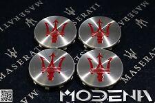 Satz Felgendeckel Radnabendeckel Deckel Wheel Cap Maserati M156 M157 rot red