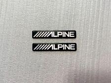 2 Alpine Speaker Grill Decal Badge Metal Sticker