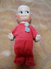 """Vintage Kewpie 6"""" Baby Doll Angel Wings Vinyl Collectible Cameo"""