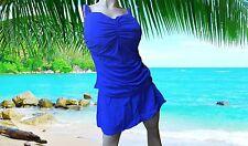 NWT PROFILE by gottex BLUE 2 pc TANKINI & SWIM SKIRT Bathing Suit SET size 20W