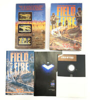 FIeld of Fire RARE Commodore 64 128 C64 Video Game CIB Big Box Nice