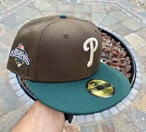 New Era Philadelphia Phillies Brown Size 7 1/4 Patch Not Hat Club Fitted 2tone