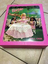 1996 Barbie Doll Case Closet - Garden Tea Party - Turn Lock Closure