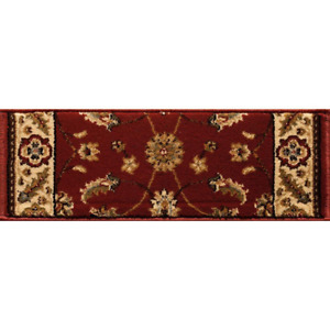 Kazmir Red 9 in. x 26 in. Stair Tread Cover Set of 12 Traditional Style Pattern