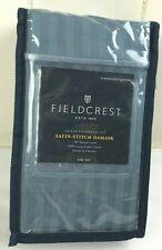 Fieldcrest Standard/Queen Damask 500 Thread Ct Sateen Pillowcase Set Rig Blue