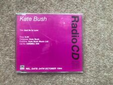 Kate Bush ‎– And So Is Love - Promo CD