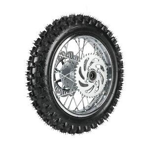 "12"" 80/100-12 1.85x12 Rear Wheel Rim Disc Rotor Sprocket Pit Dirt Bike 70-160cc"