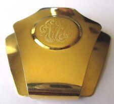 Bijou Accessoire vintage multi usage écusson gravé monogramme couleur or 213